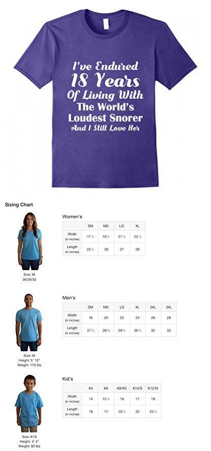 Mens 18th Wedding Anniversary Gift Husband Funny Snoring T Shirt 2xl