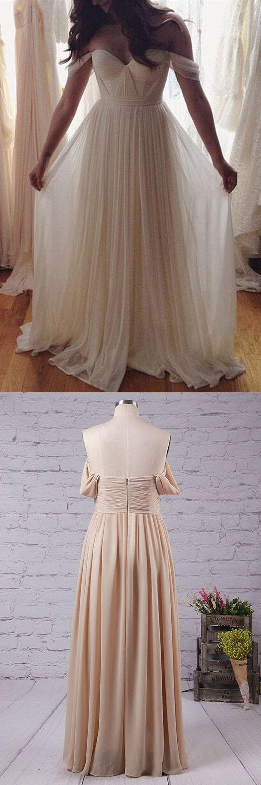 Princess Prom Dress, Long Prom Dresses, Chiffon Evening Dresses, Sexy Party Dresses, Off the Shoulder Formal Dresses