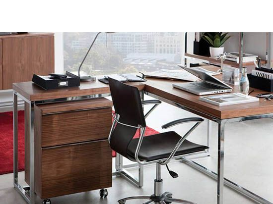 tate desk walnut modernoffice homeoffice - Scan Design Desk