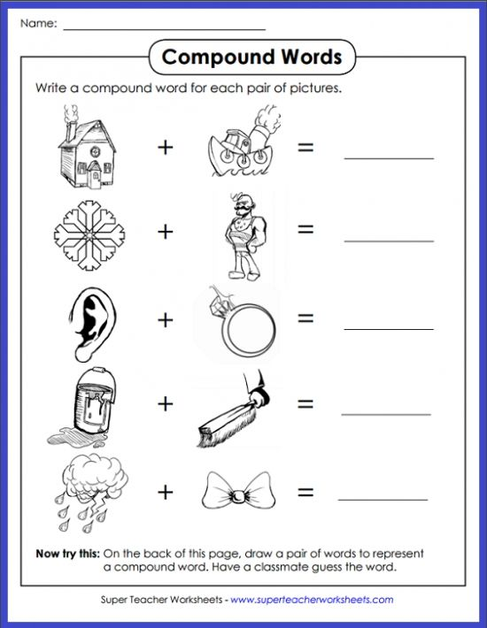 Can your students figure out which compound word the pictures make? Head on over to · Compound Word ActivitiesTeacher WorksheetsCompound ...