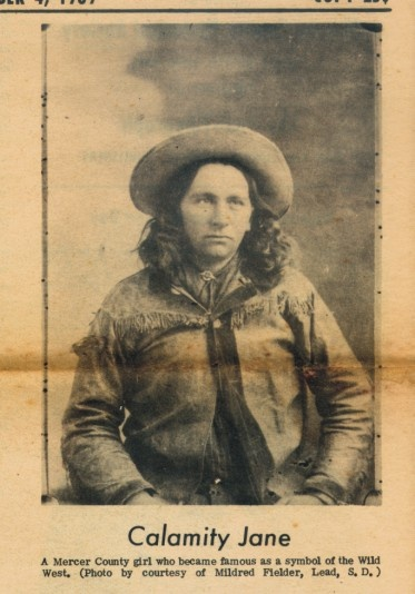 """Calamity Jane. Not who one would say was a """"handsome woman."""" From this shot, I ain't too sure about the """"woman"""" part, neither."""