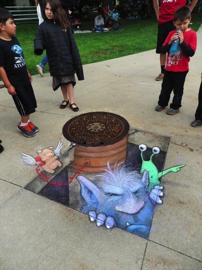 David Zinn, le Street Artiste qui fait vivre ses Illustrations 3D dans le Paysag…