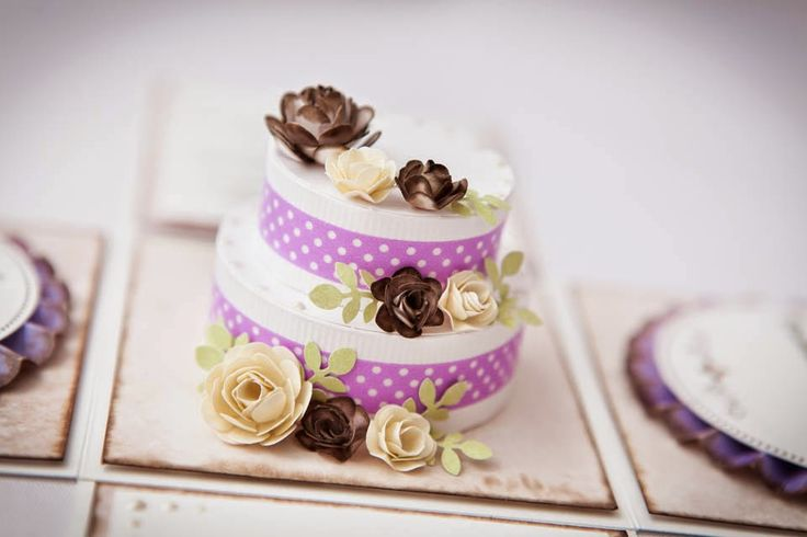 exploding box wedding paper cake