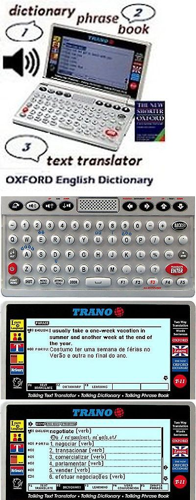 Dictionaries and Translators: T-33 Portuguese English Electronic Dictionary Talking Text Translator. -> BUY IT NOW ONLY: $240.14 on eBay!