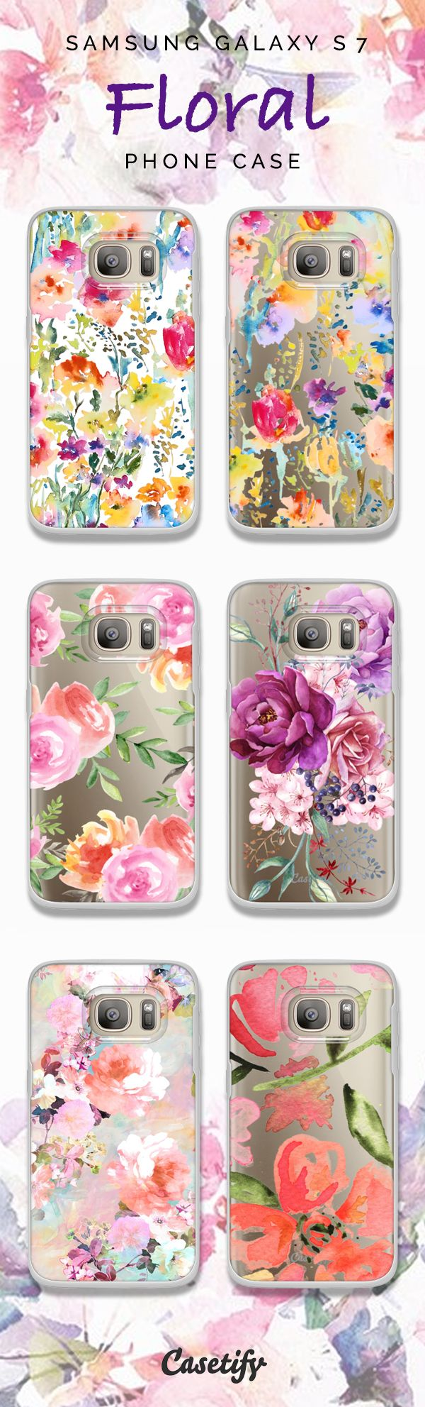 We design to inspire! Phone case designs are now available for Samsung Galaxy S7 & Galaxy S7 edge. Floral print never get out of style!Click through to see more phone case idea >>> https://www.casetify.com/collections/samsung-galaxy-s7 | @casetify