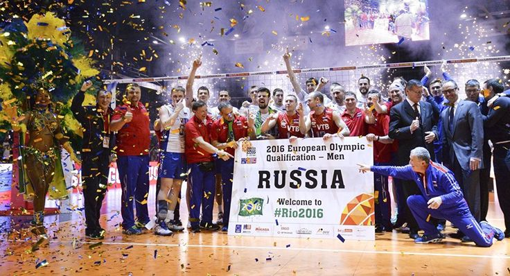 """The regular flak Russian athletes are taking these days for their real or imaginary use of drugs is part of the """"war against Russia,"""" Belgian cyclist Philippe Gilbert said in an interview with RTBF, a public broadcasting organization of the French Community of Belgium.  Coaches and athletes of the Russian national men's voleyball team after a victory in a final match of the men's qualification volleyball tournament for the 2016 Olympic Games between France and Russia"""