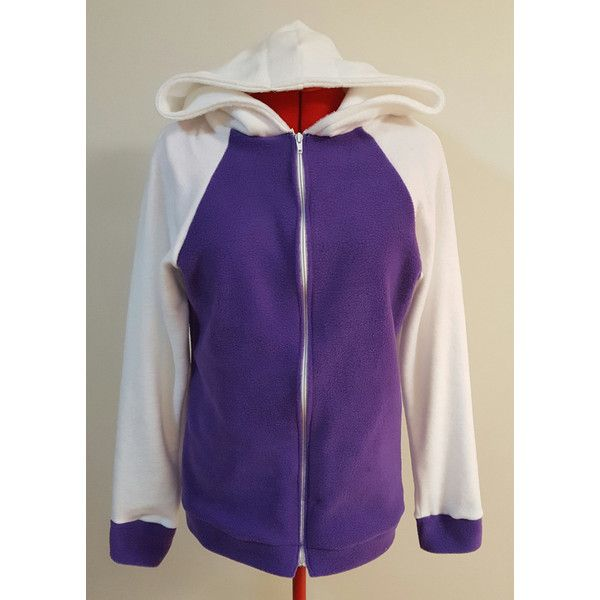 Hinata Hyuga Naruto Inspired Fleece Hoodie Jacket Anime ($46) ❤ liked on Polyvore featuring tops, hoodies, fleece hoodies, baggy tops, hoodie top, animal hoodies and hooded sweatshirt