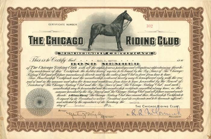 G. H. LaBarre Galleries, Inc. The Chicago Riding Club