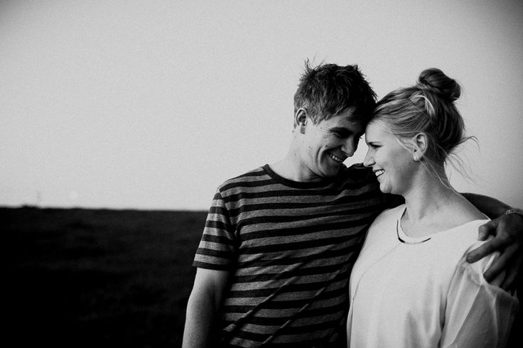 Laughing couple in black and white VSCO