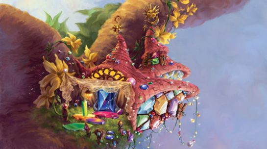 pixie hollow illustration | The Fairies of Pixie Hollow |