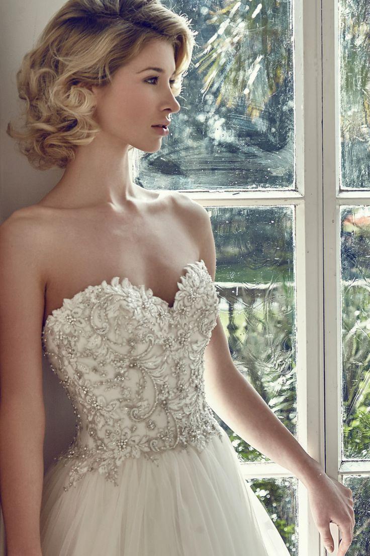 Style 2728, Benjamin Roberts #weddingdress #strapless #beaded
