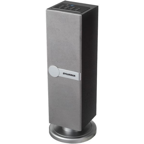 SYLVANIA SP269 SILVER Bluetooth(R) Mini Tower Speaker (Silver)