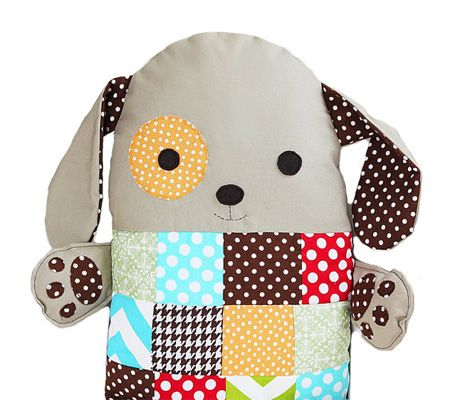 DIY Super Easy Pattern - Patchwork Toy Dog Pillow