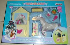 Horseland Cheval Butterfly + son Box  rose gris jouet LANSAY 12057 ++ 100%  NEUF