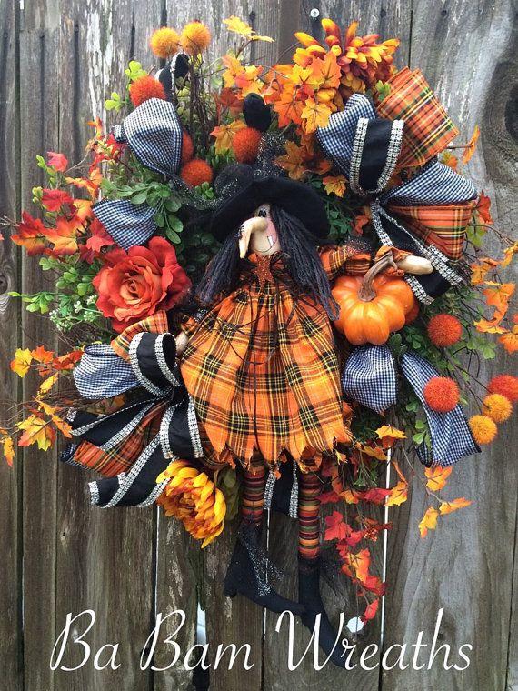 Halloween Wreath Halloween Decor Halloween Swag by BaBamWreaths