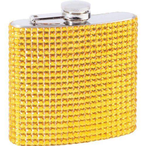 Maxam 6oz Stainless Steel Flask with Gold Diamond Pattern Wrap Limited Lifetime Warranty.  #Maxam #Home