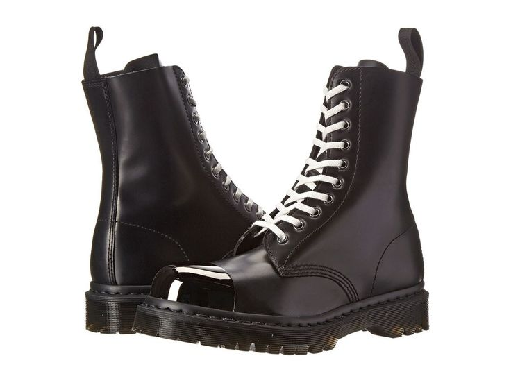 Dr. Martens Women's Grasp External Fashion Steel Toe. The Grasp External Fashion Steel Toe Cap Boot from Dr. Martens® updates the traditional work boot with a modern leather construction, a standout lacing system, and and a tough fashion steel toe cap.