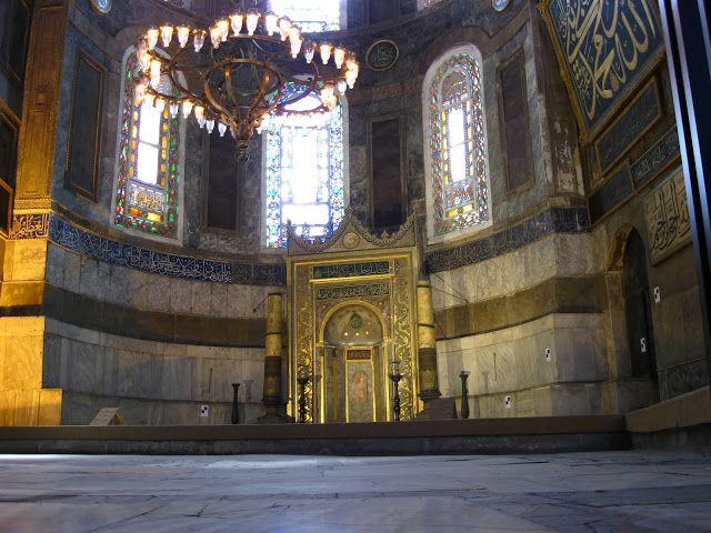 Altar de la Basílica de Santa Sofía en Estambul