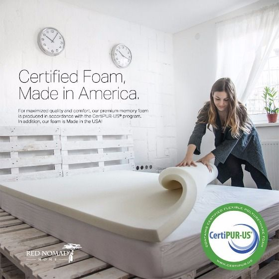 Model Of Red Nomad 2 inch Memory Foam Mattress Topper Review HD - best mattress reviews Top Search
