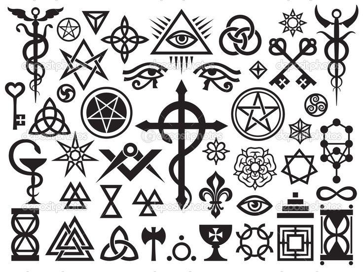 Baixar - Sinais de ocultismo medievais e selos mágicos — Ilustração de Stock #5426181