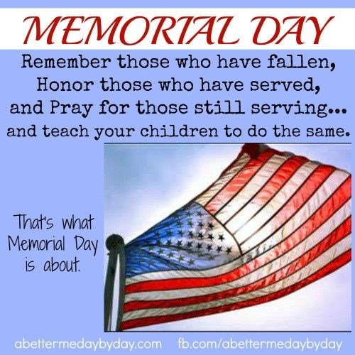 memorial day means to me