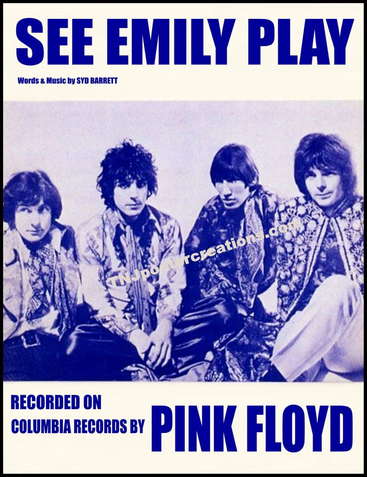 Pink Floyd Poster – See Emily Play with Syd Barrett Columbia Records Era by MyGenerationShop on Etsy