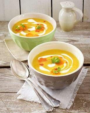 Das Rezept für Möhren-Süßkartoffel-Suppe und weitere kostenlose Rezepte auf LECKER.de