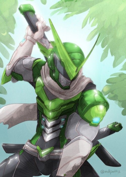 Overwatch - Genji Anniversary Artwork