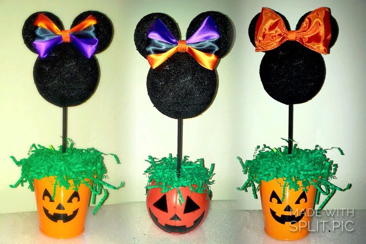 Halloween decorations, Halloween party centerpiece, Pumpkin patch Minnie Mouse