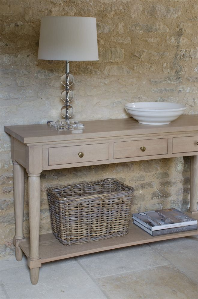 Neptune Living Occasional Tables - Henley Oak Console Table