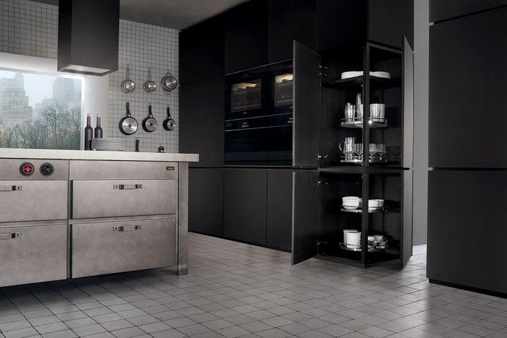 Minà kitchen by Minacciolo. #minacciolo #cucina #design #kitchen #loft #vintage #idea #interni #interior #apartment #industrial #style #acciaio #ossidato #oxidized #steel #innovation