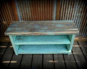 48 Shoe Rack Bench with Boot Cubby Two Tone by TheHenryHouse