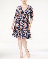 Love Squared Trendy Plus Size Twist-Front Dress