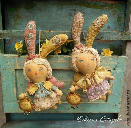 Ароматизированные куклы ручной работы. Ярмарка Мастеров - ручная работа Мартовские зайчики. Handmade.
