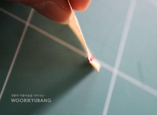 바느질방법_ 보자기 테두리 / 홑보 테두리 마감하기 과정샷! : 네이버 블로그