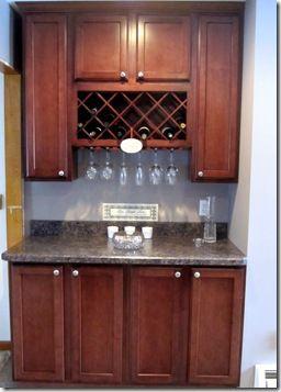 Best 25 built in wine rack ideas on pinterest for Built in wine bar cabinets