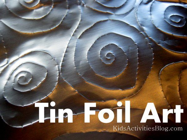 Ever tried tin foil art? I love the effects you can create. Fun for mirror writing messages too.