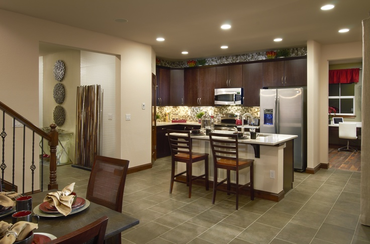1000 images about trio signature design ryland homes for Model home kitchens