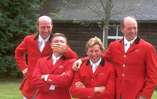 Michael Whitaker,Geoff Billington, Nick Skelton and John Whitaker(the 1992 GB showjumping team)