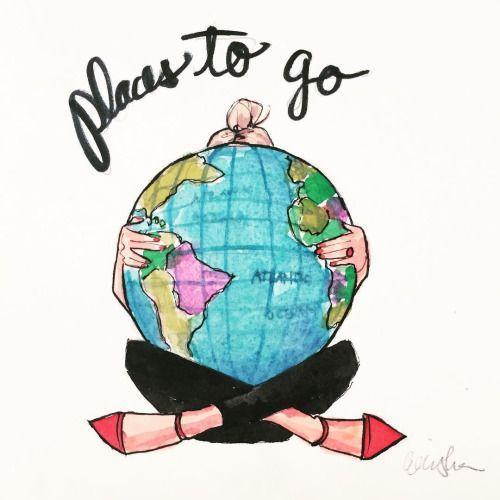 athingcreatedblog:  It's Monday, and you've got #placestogo!