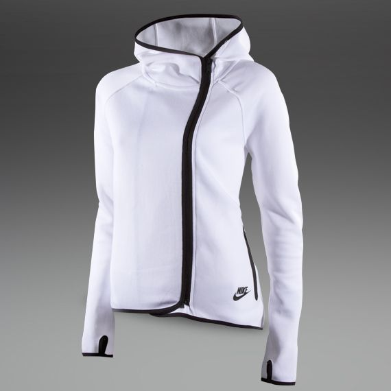 Nike Sportswear Womens Tech Fleece Cape - Womens Tennis Clothing - White - Black