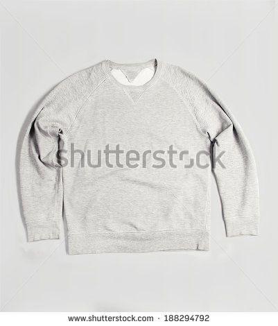grey blank sweatshirt   - stock photo