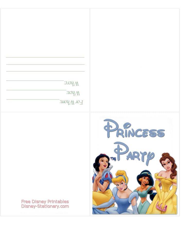 137 best Disney Princesses Birthday party images – Disney Princess Printable Birthday Cards