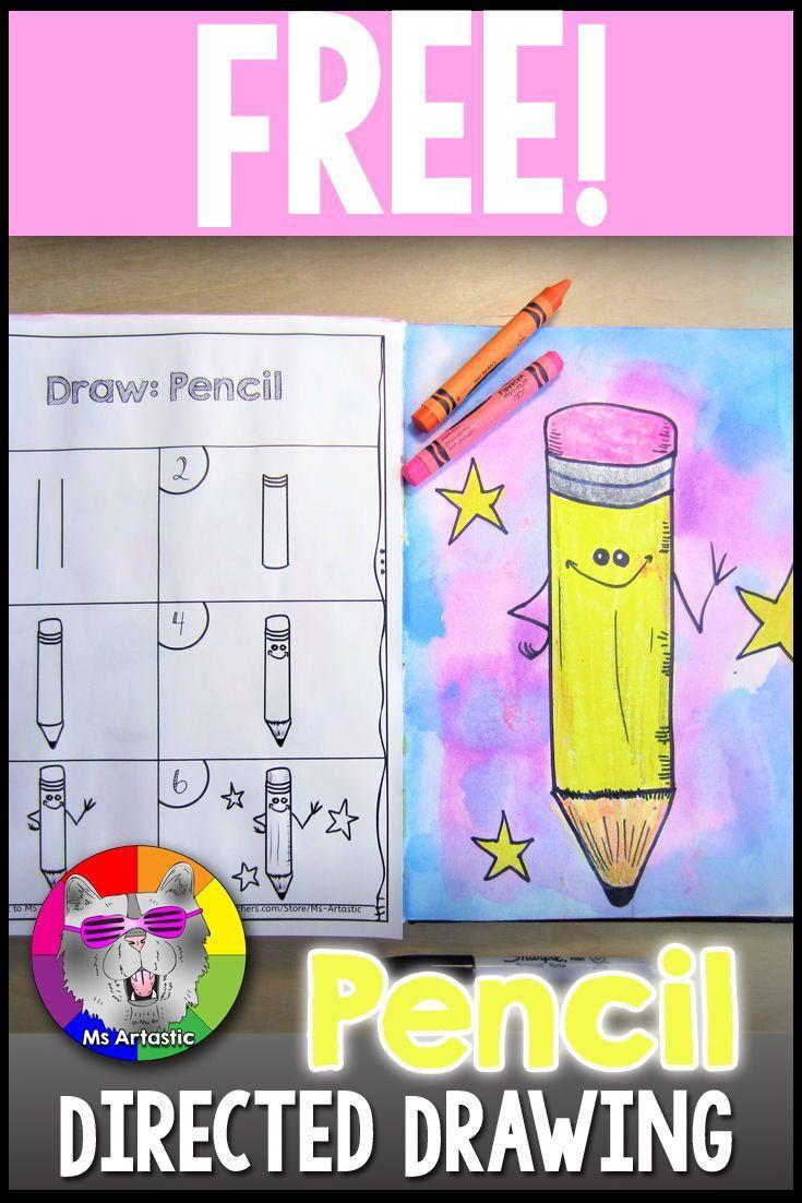 Back To School Directed Drawing Freebie Art Teacher