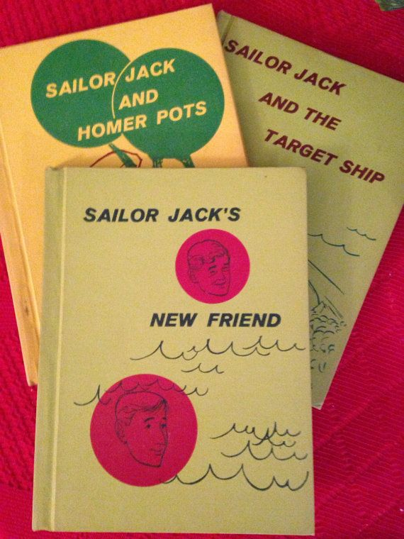 Three Vintage Sailor Jack Books by ArtHappy on Etsy