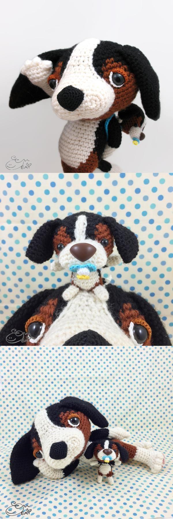 Increíble Patrón De Crochet Botines Perro Elaboración - Manta de ...