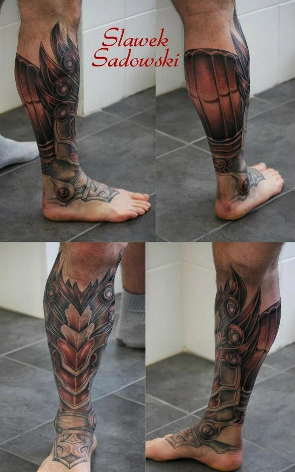 "Leg Armor Tattoo ""great leg armour tattoo"