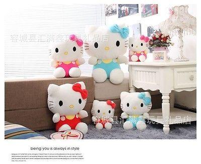 Sitting Height 25cm Hello Kitty Plush Toys Hello Kitty Doll The Little Girl's Bi
