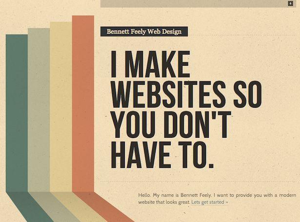 Roundup of single page websites | Webdesigner Depot