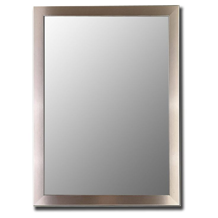 Silver Stainless Mirror Simple And Stylish The Silver And Stainless Mirror Offers A Great Decorative Touch To A Modern Room